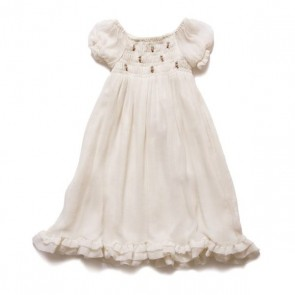 White Chiffon Rose Dress