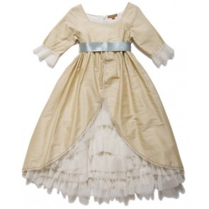 British the Court Wind Whiffon Ribbons Dress