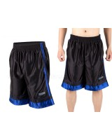 ADIDAS male basketball pants shorts - black and red