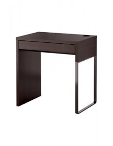 MICKE Desk, black-brown